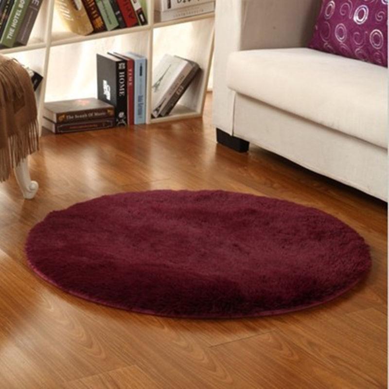 living room circle round soft shaggy area round rug carpet