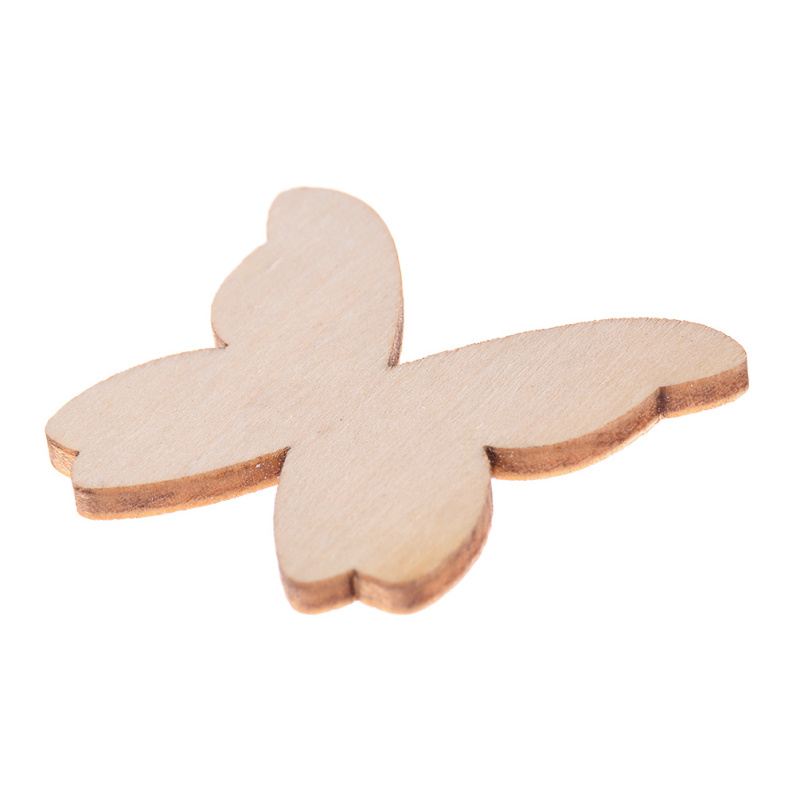 50 Pcs Butterfly Shapes Wooden Crafts Home Decor Creative