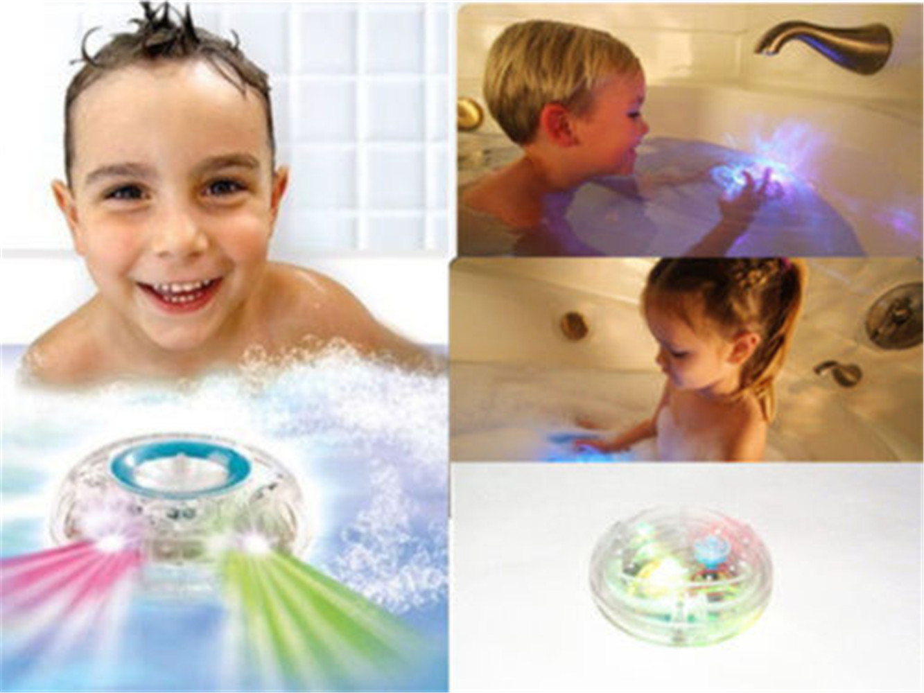 DISCO BATH LIGHTSHOW COLOUR LED LIGHT TOY PARTY IN THE TUB ...