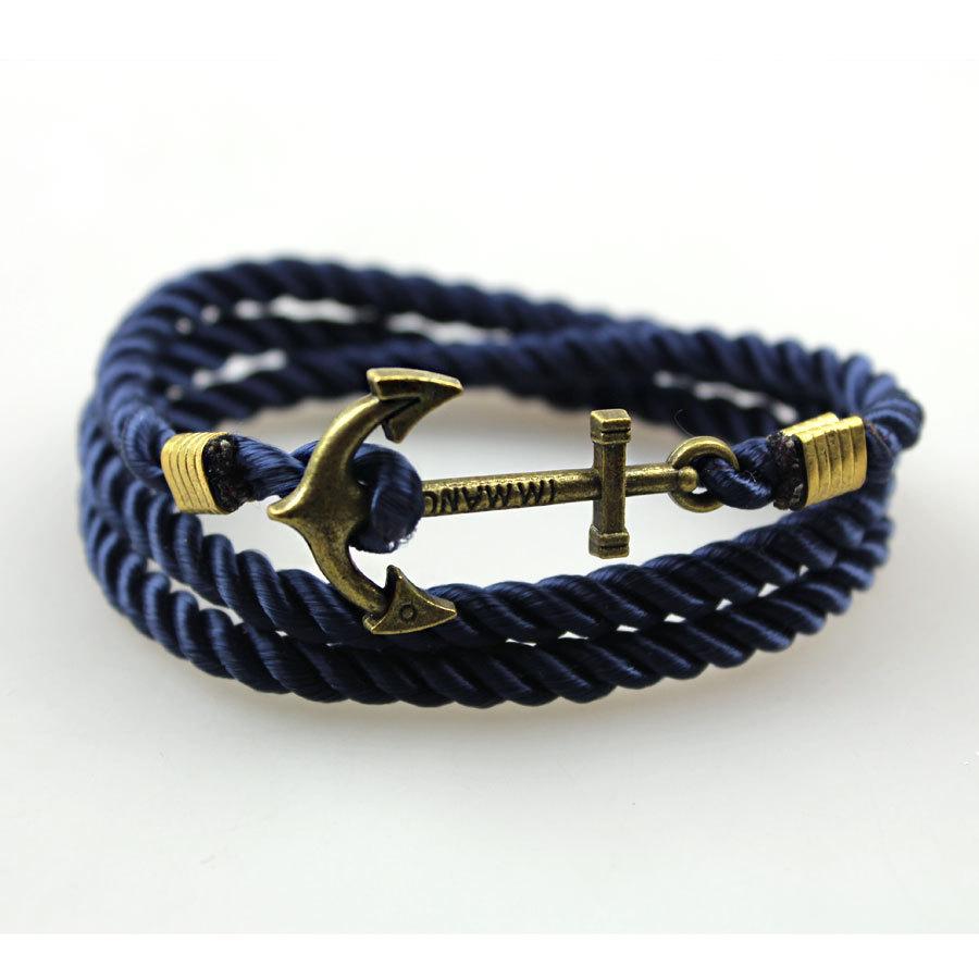 New Men's Rope Wristband Bracelet Handmade Multilayer ...