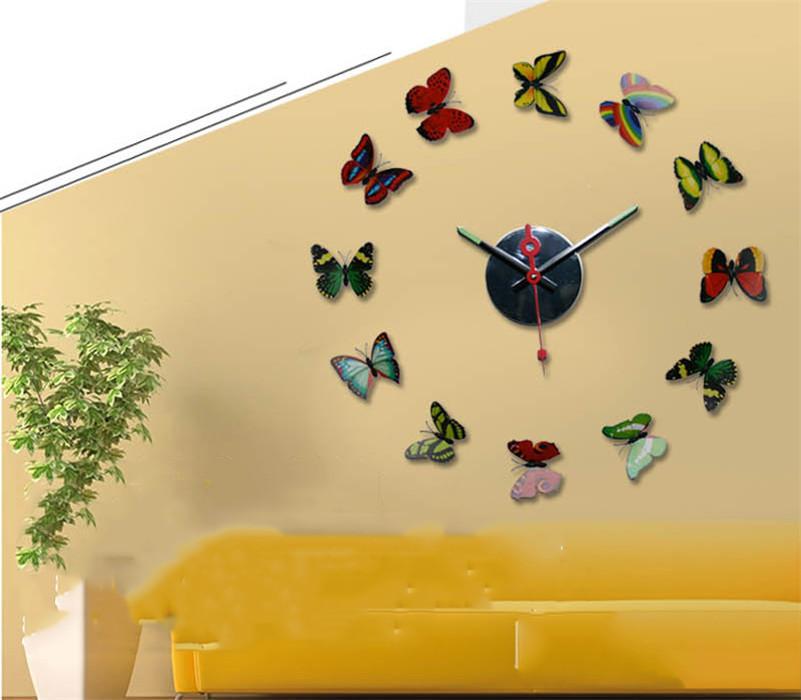 Modern design large diy 3d wall clock home decor art watch for Large 3d wall art