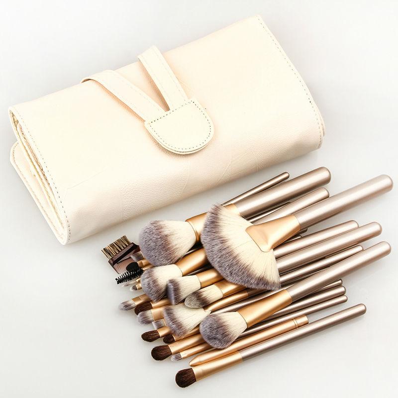24tlg make up pinsel set professionelle brush make up mit. Black Bedroom Furniture Sets. Home Design Ideas