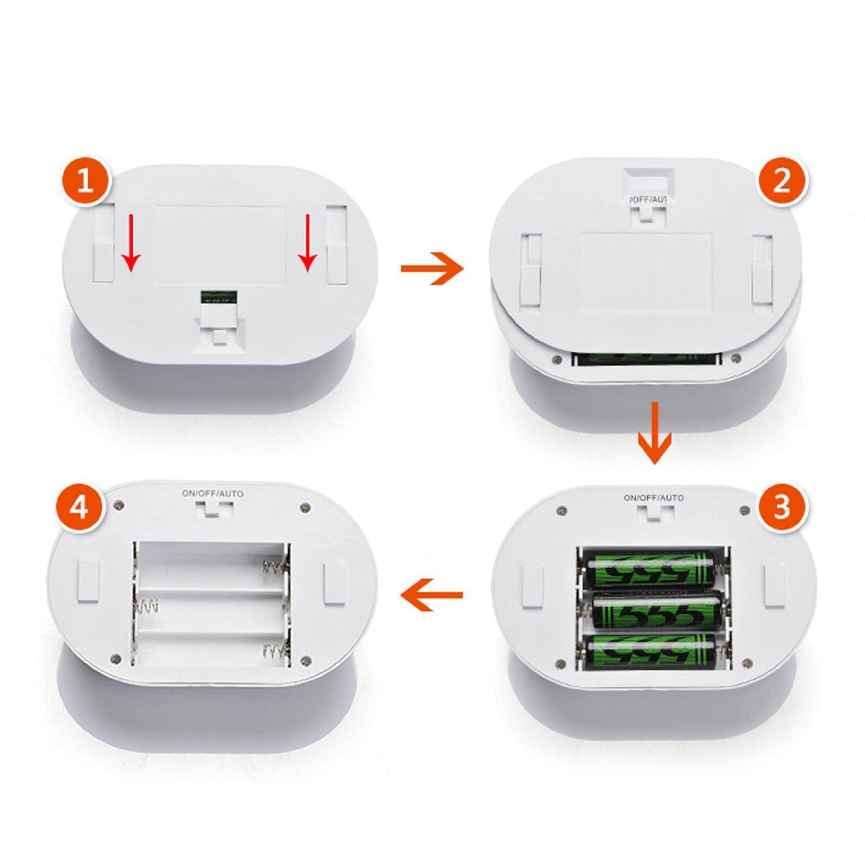 wireless indoor 10 led night light lamp motion sensor. Black Bedroom Furniture Sets. Home Design Ideas