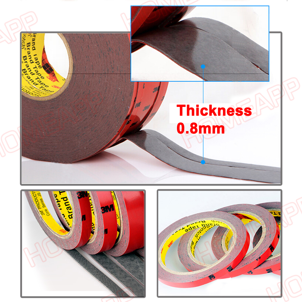 3m Double Face Sided Tape 15mm 3 Meters For Automotive Usage Dashboard Door Ebay