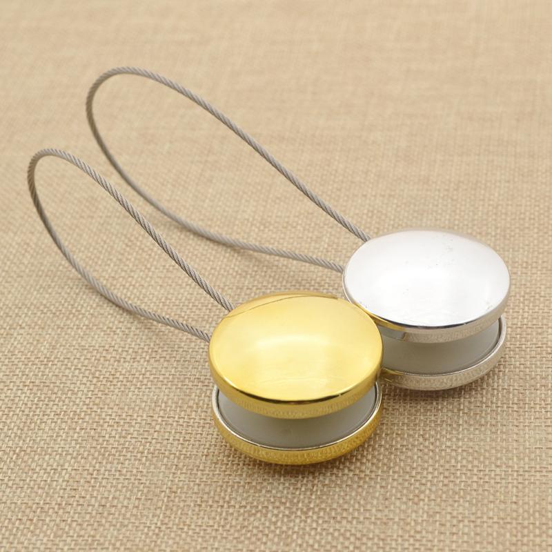 deko zugband vorhang raffhalter gardine holder tieback magnet metall wohnung ebay. Black Bedroom Furniture Sets. Home Design Ideas