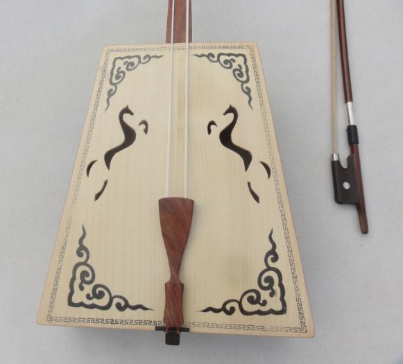 Handmade Morin Khuur Red Wooden Matouqin Horse Head String