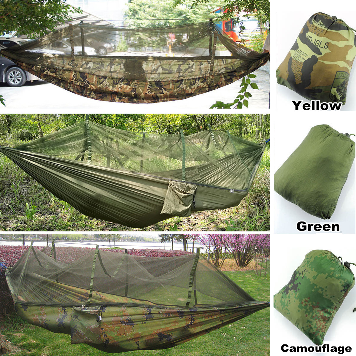 Outdoor Garden Jungle Camping Tent Hammock With Mosquito