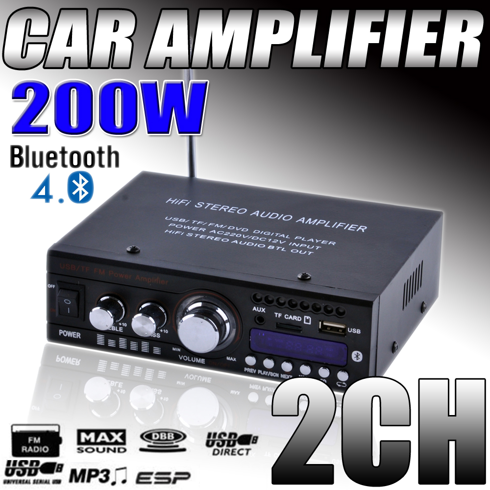 200W Mini Bluetooth Car Motorcycle Power Amplifier HiFi ...