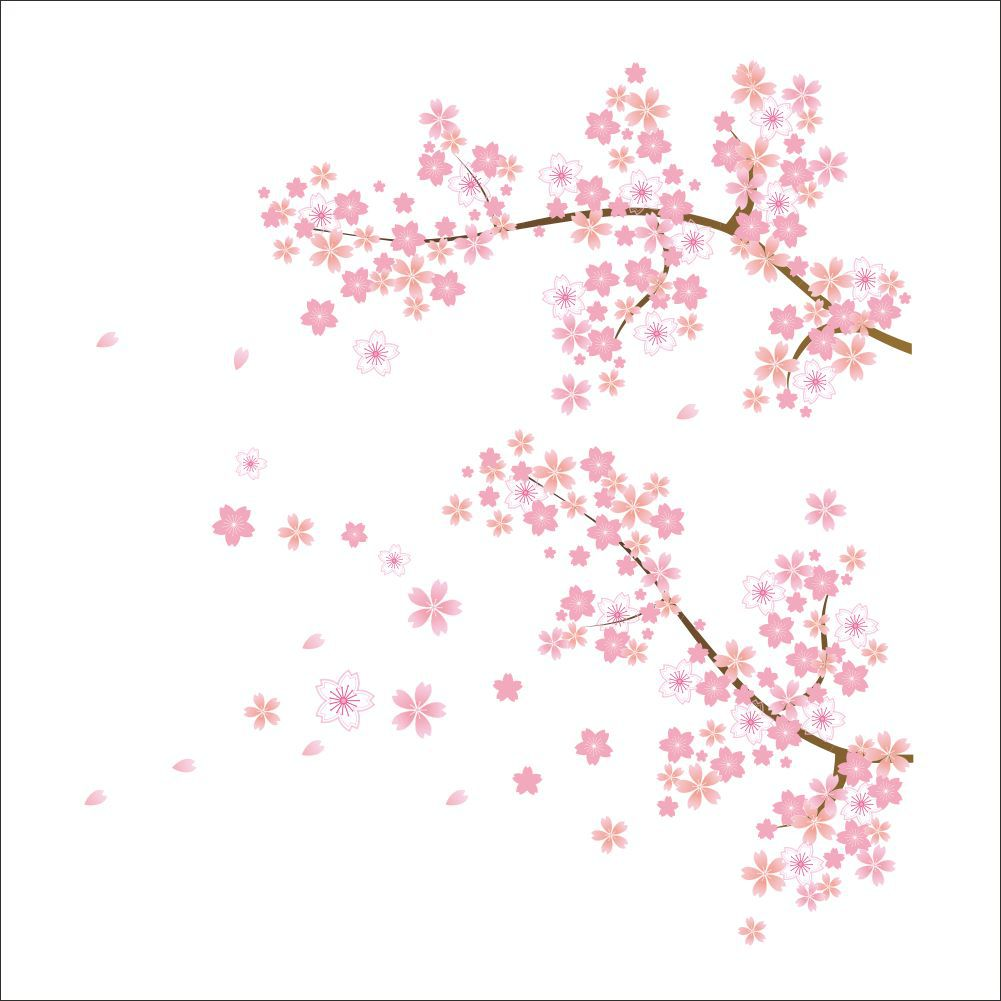 pink flowers removable vinyl decal wall sticker mural diy pink flower wall stickers living room bedroom wall art decals