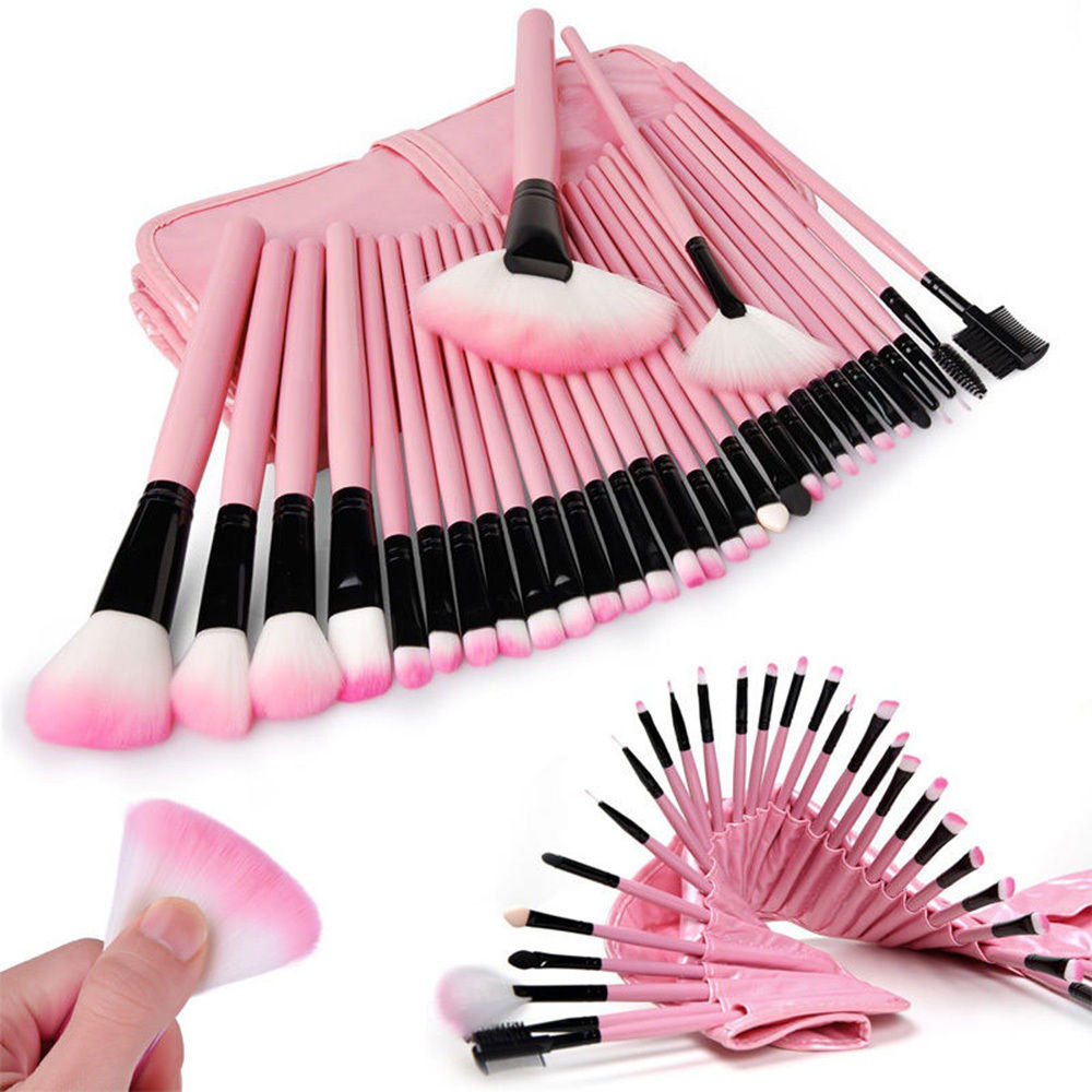32tlg kosmetik brush pinsel set 10tlg foundation. Black Bedroom Furniture Sets. Home Design Ideas