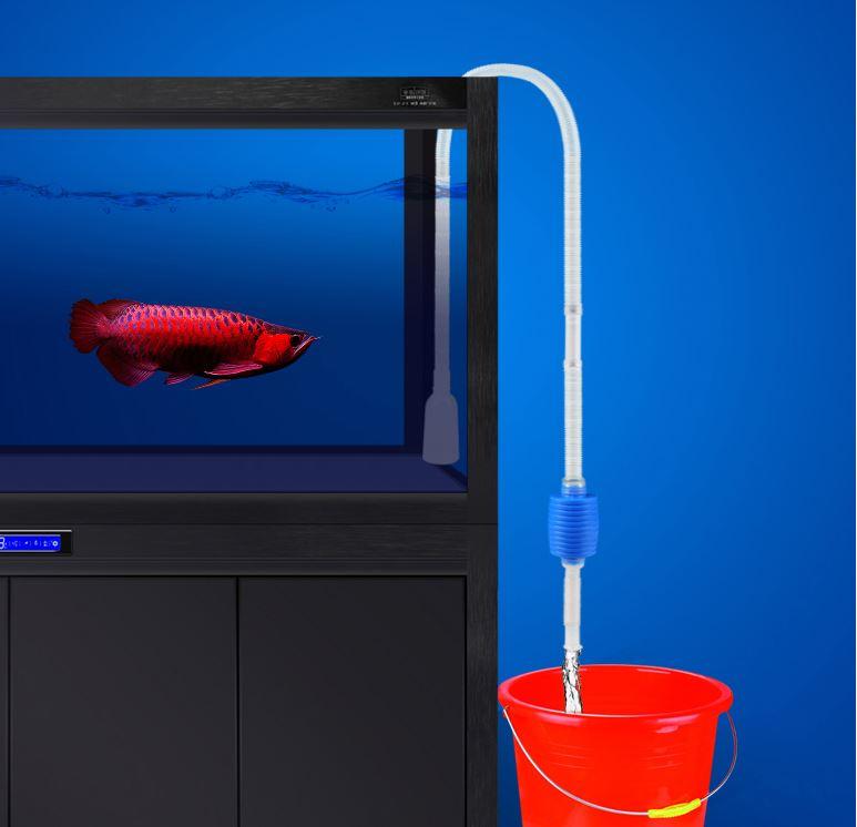 Cleaner aquarium water change vacuum tube fish tank for Tube fish tank
