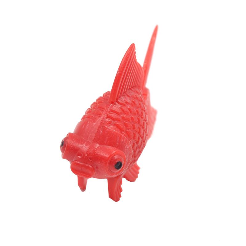 5 pi ces natation faux poisson rouge plastique d corations for Faux poisson rouge