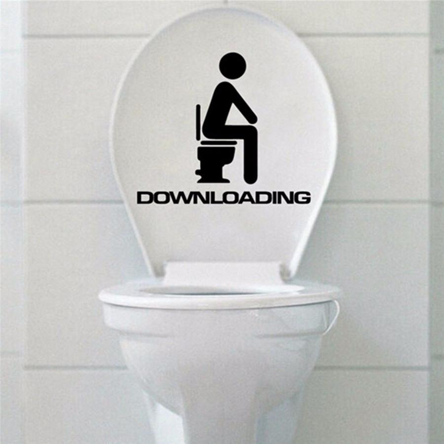 Removable DIY Toilet Seat WC Bathroom Art Vinyl Home