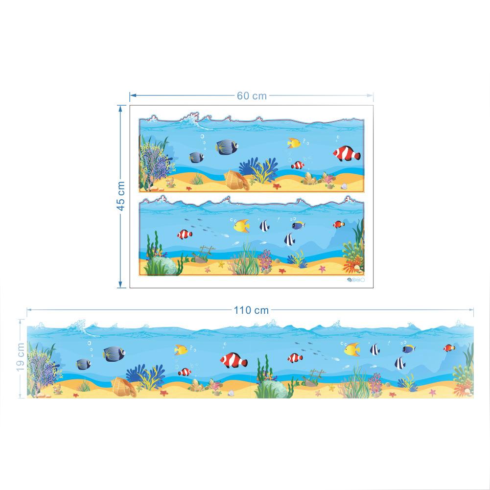 wall sticker sea world grass fish reef vinyl decal home. Black Bedroom Furniture Sets. Home Design Ideas