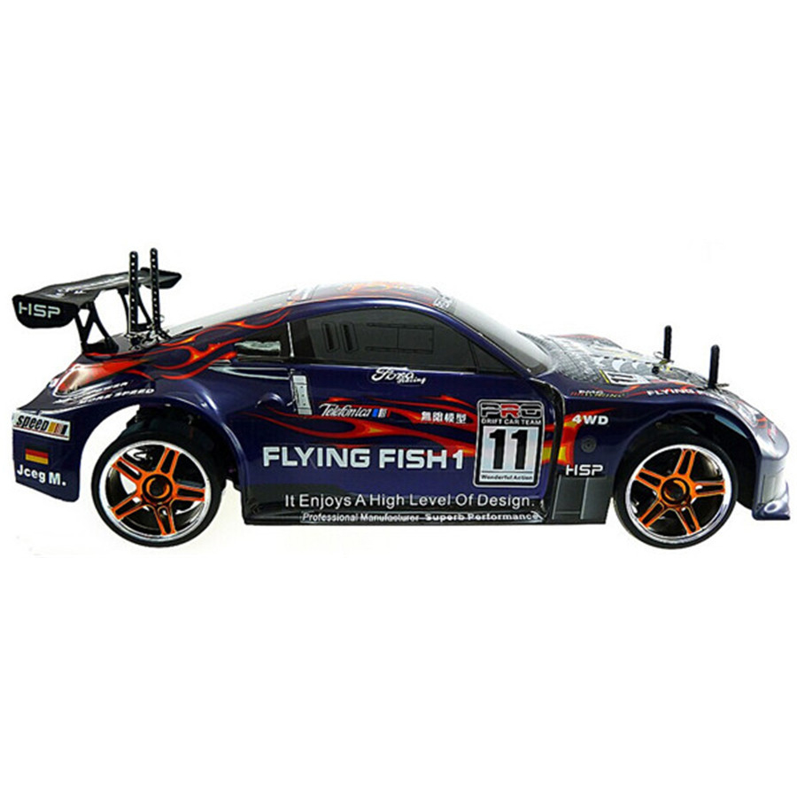 High Speed HSP 94123 Rc Drift Car 4wd 1:10 Electric Flying