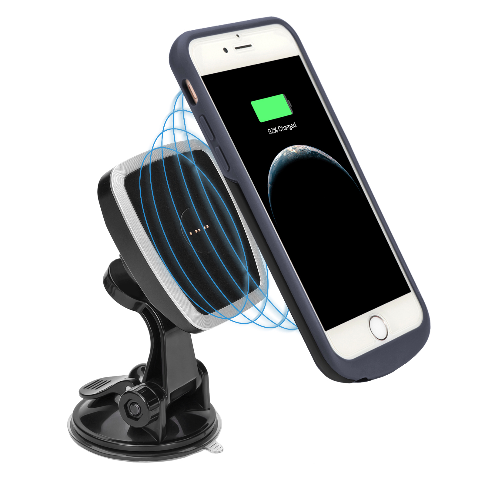magnetic wireless charging case car mount for iphone6 6s. Black Bedroom Furniture Sets. Home Design Ideas