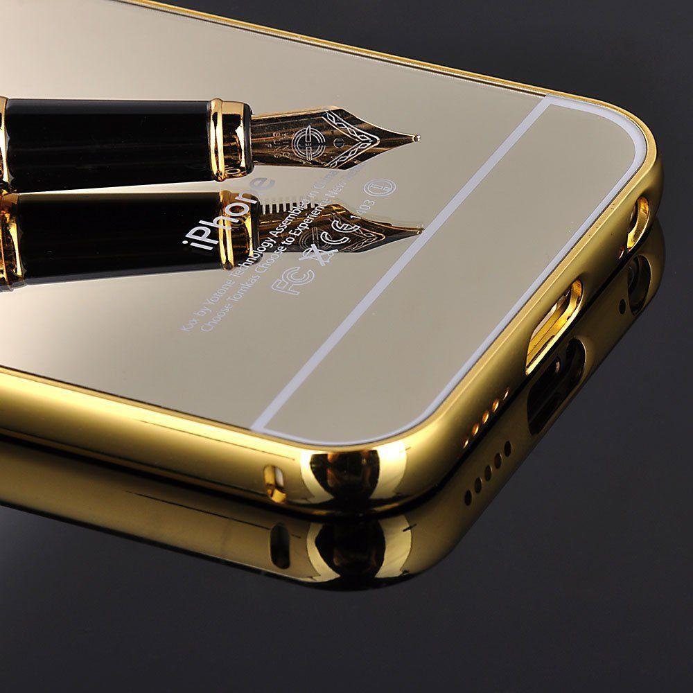 aluminium metall spiegel bumper case cover tasche schutz. Black Bedroom Furniture Sets. Home Design Ideas