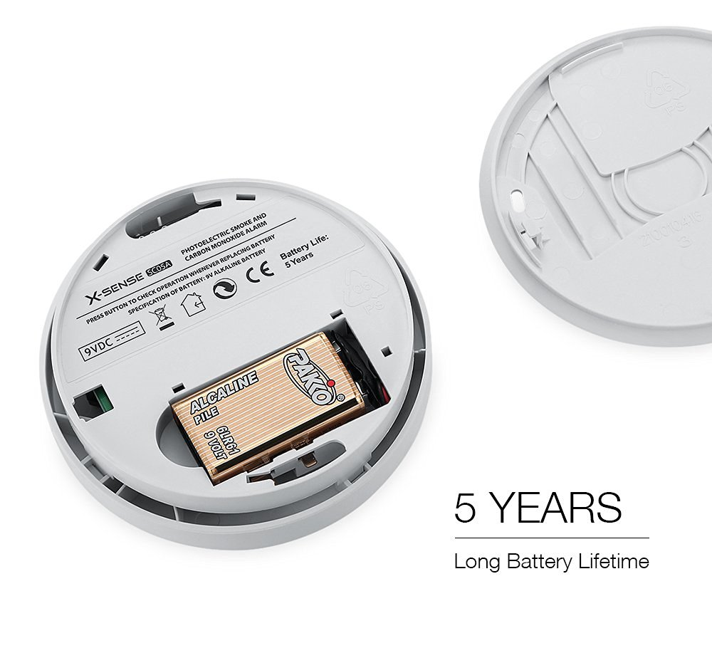 xsense wireless smoke detector carbon monoxide detector fire alarm photoelect. Black Bedroom Furniture Sets. Home Design Ideas