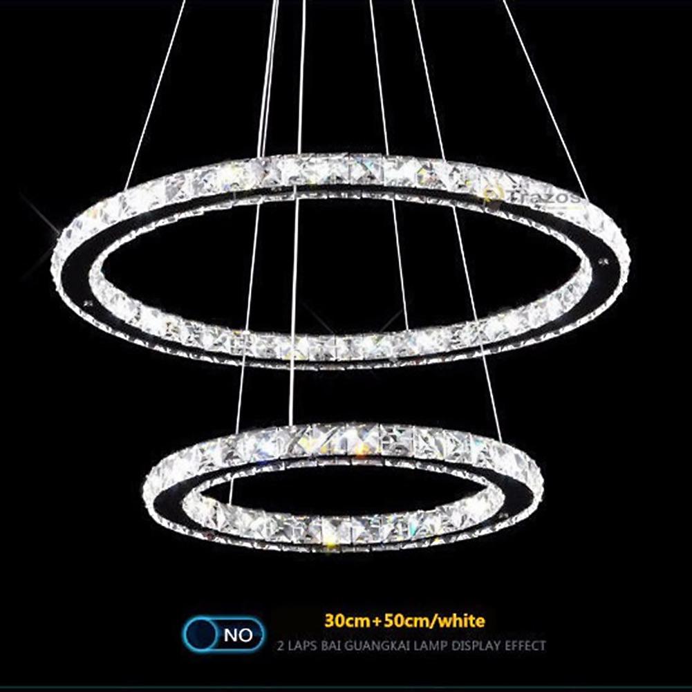 Led Crystal Ring Chandelier Pendant Light Lamp Ceiling Fixture Home Oval Shape Ebay