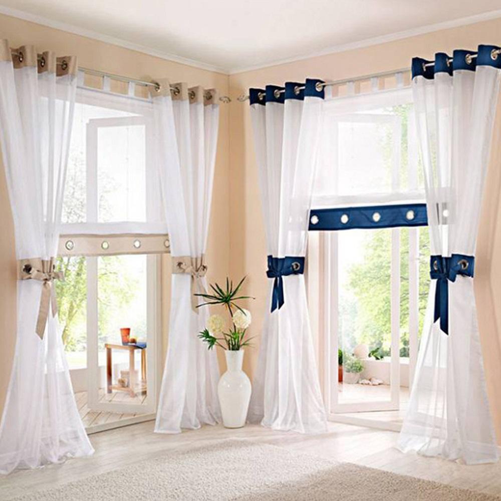 Gardinen vorh nge kr uselband wei wohnzimmer deko gardinen schals store ebay - Ebay gardinen wohnzimmer ...