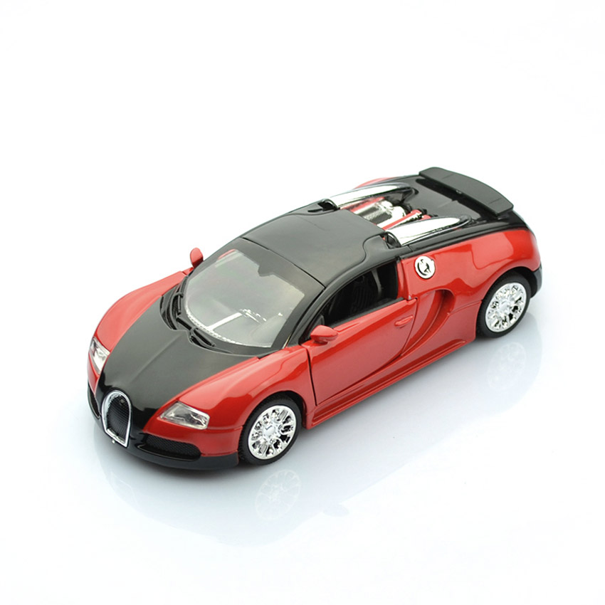 Bugatti Veyron Motor: New 1:36 Bugatti Veyron Diecast Car Toy Model Red Vehicle
