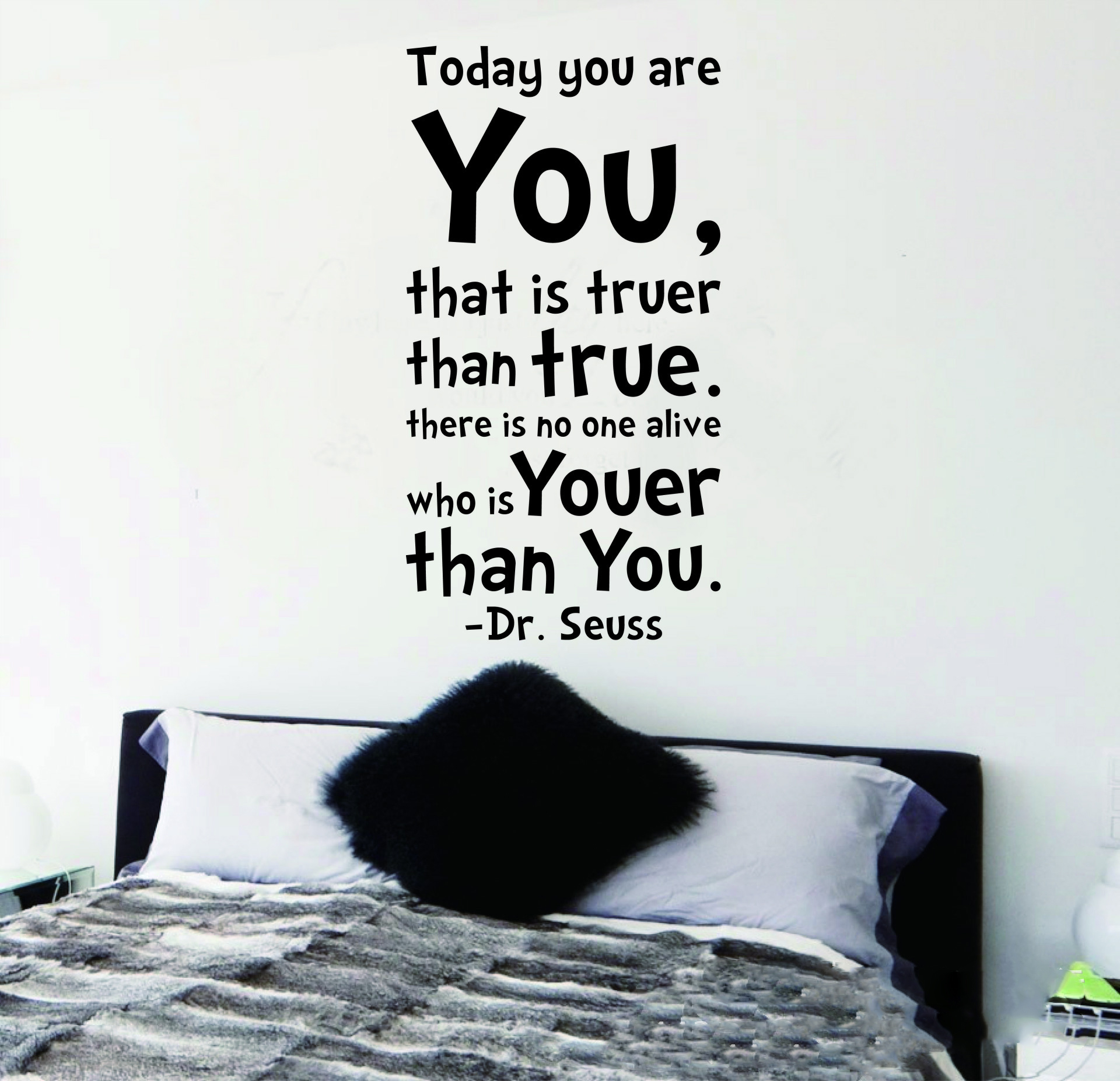 dr seuss inspiration quote today you are you letters wall sticker features high quality brand new100 material nontoxic pvc which is removable without residue remaining on the surface non toxic environmental protection