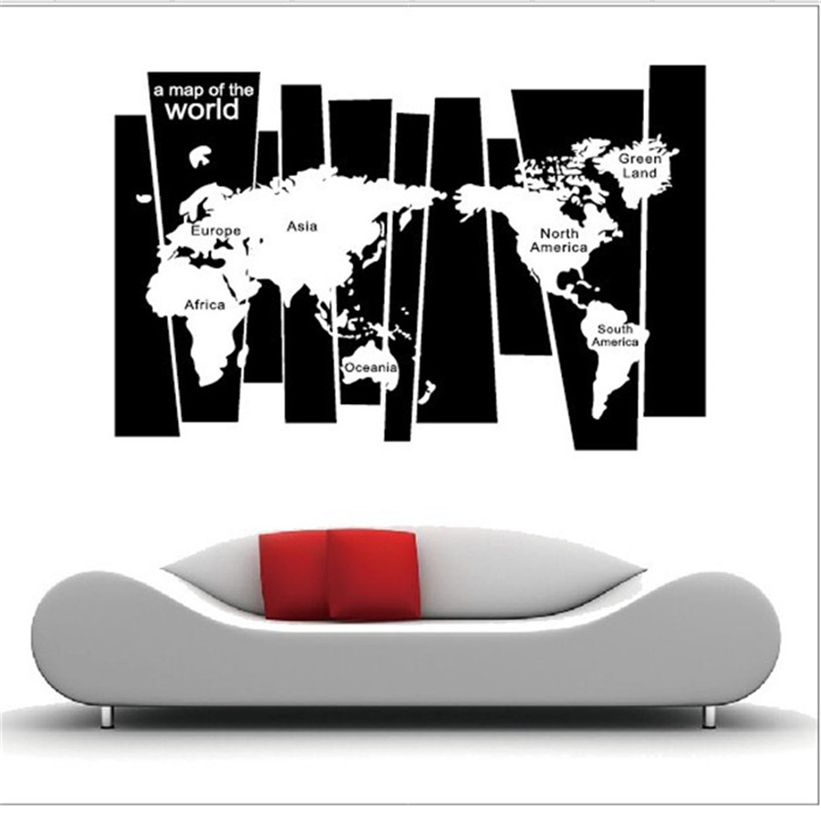 Removable art craft vinyl world map wall sticker diy decal home room removable art craft vinyl world map wall sticker diy decal home room mural decor gumiabroncs Choice Image