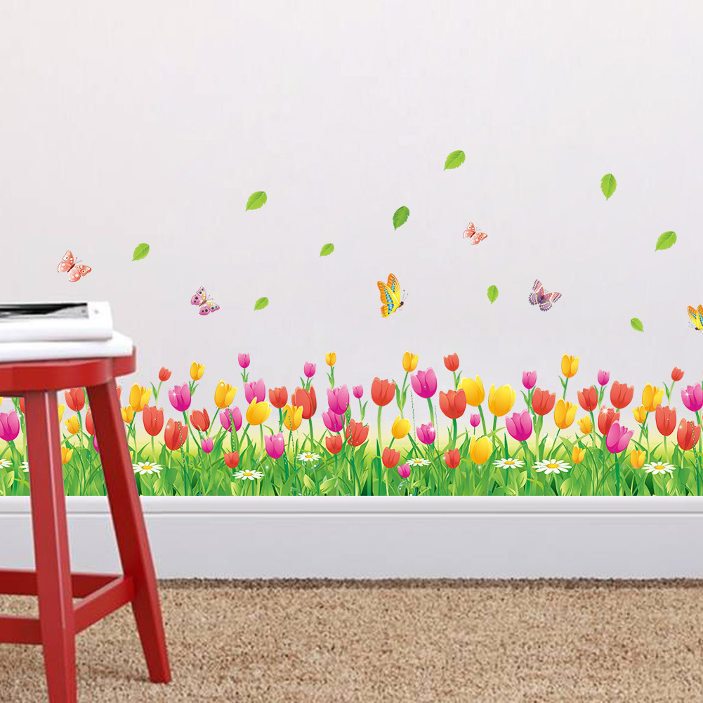 Diy Baby Nursery Floral Wall Decor: Butterfly Flower DIY Kids Bedroom Wall Stickers Baby