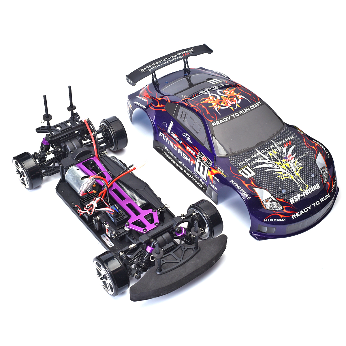 High Speed Rc Drift Car 4wd 1:10 Electric Flying Fish