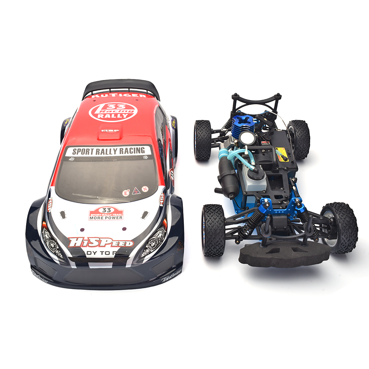 Hsp Rc Car 1 10 Scale Nitro Gas Power 4wd Off Road Truck: KUTIGER HSP 94177 Nitro Off-road Sport Rally Racing 1:10