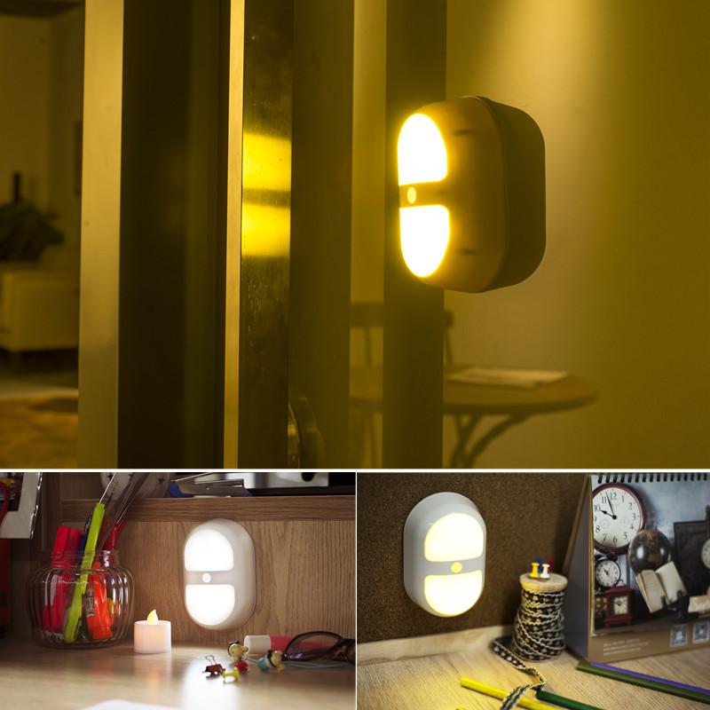 Night light motion sensor activated wall light 10led for for Bathroom night light
