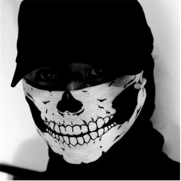 new halloween skeleton skull face mask biker outdoor cycling costume cosplay - Halloween Skeleton Head