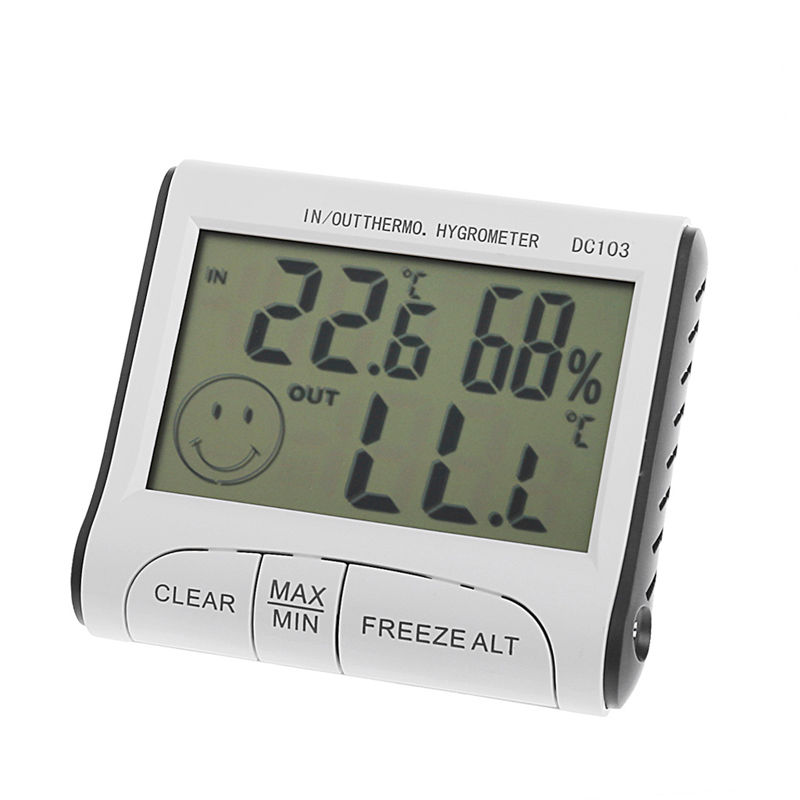 LCD Indoor//Outdoor Digital Thermometer Hygrometer Temperature Humidity Display