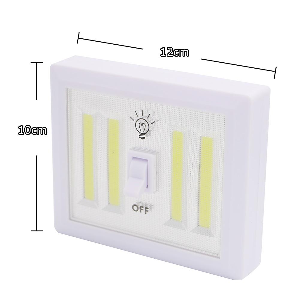 8W COB LED Wall Switch Wireless Closet Cordless Night Light Battery Operated eBay