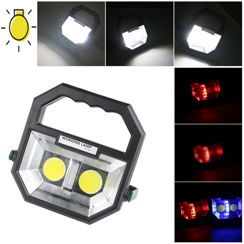 portable cob led rechargeable work light camping lantern lamp