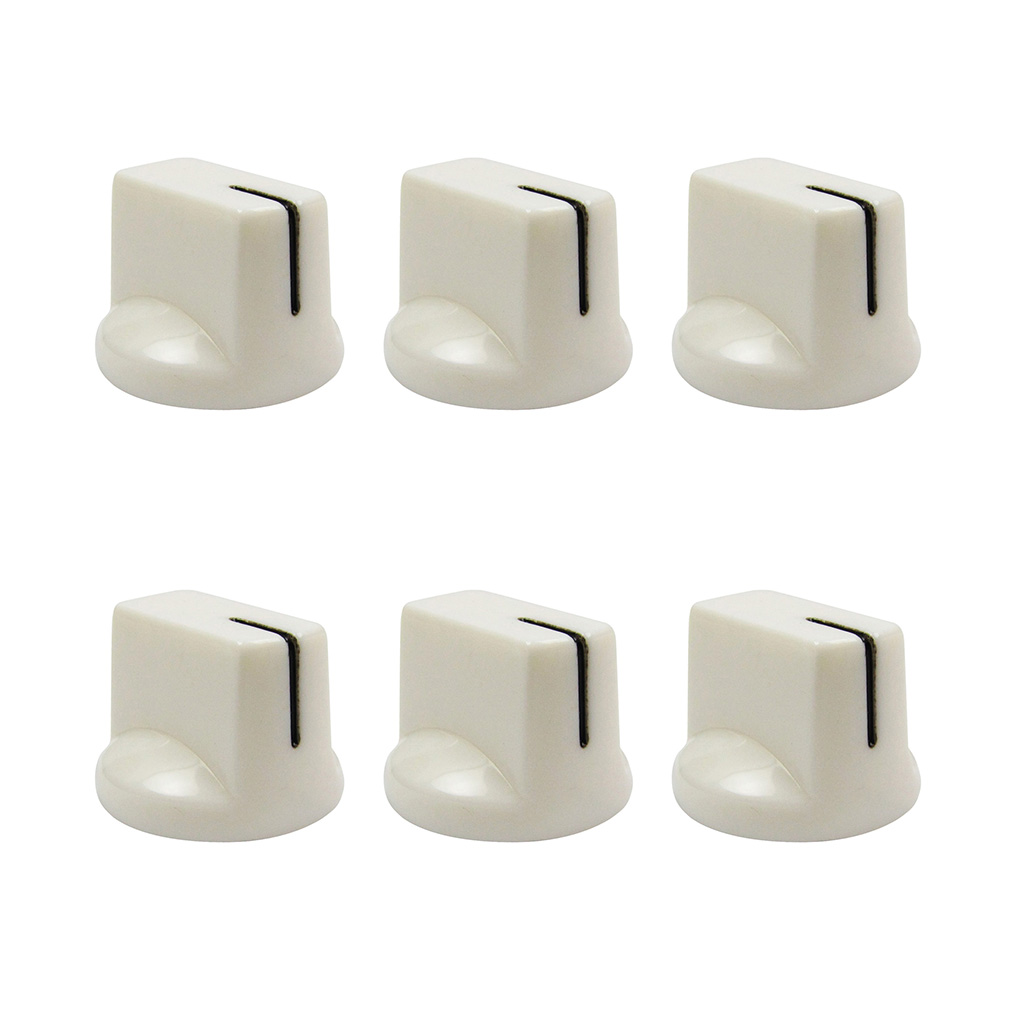 new 6pcs white color guitar effect pedal knobs amp control knobs plastic 799928717724 ebay. Black Bedroom Furniture Sets. Home Design Ideas