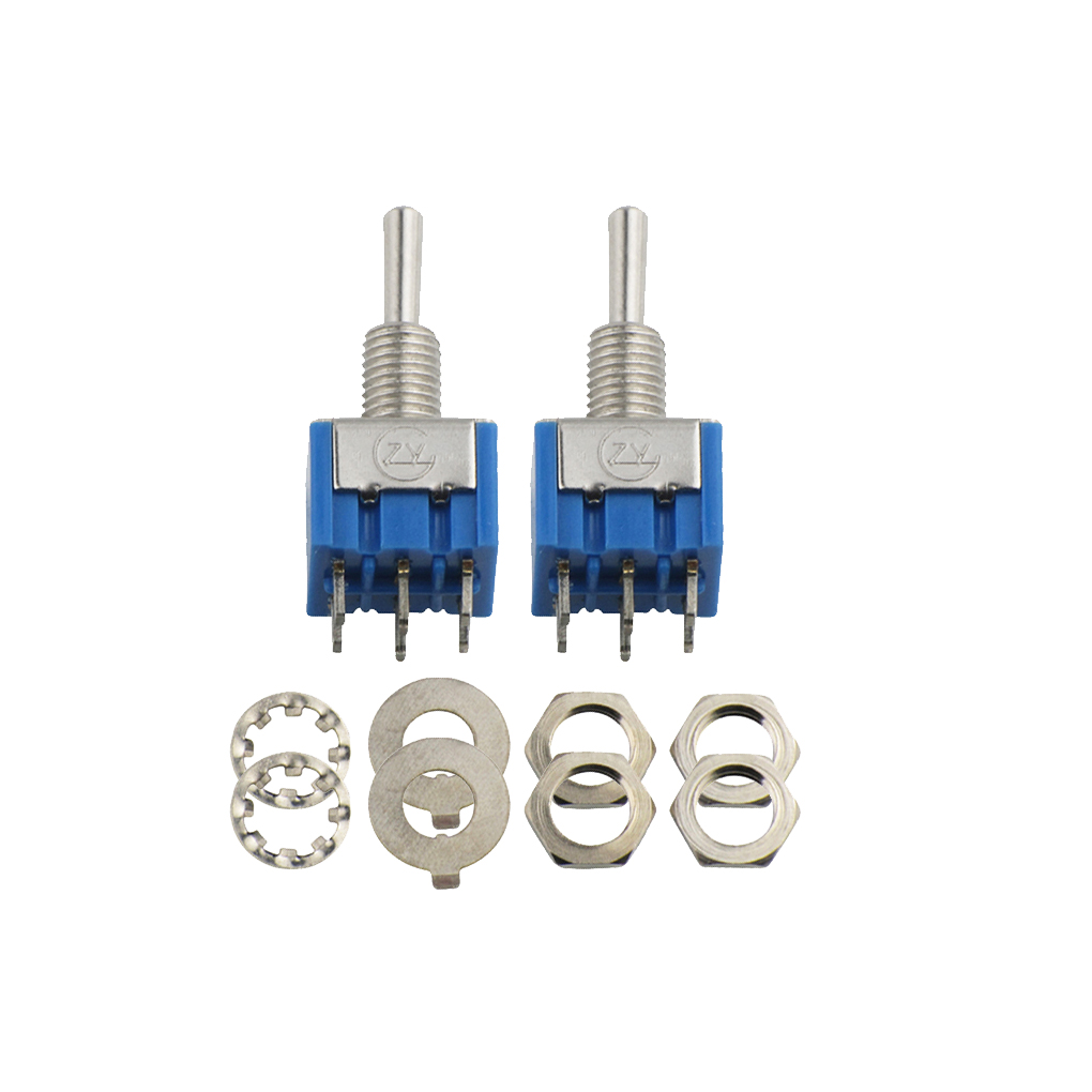 New 2pcs Blue Guitar 3 Way Mini Toggle Switch Dpdt On Off Wiring Diagram Import 100 Brand With