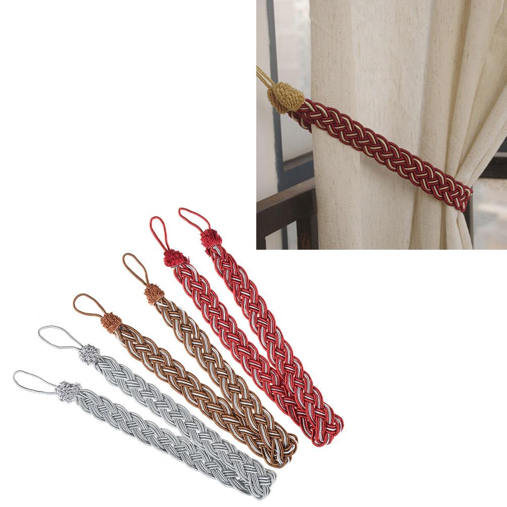 Geflochten Zopf Raffhalter Wohnung Haus Dekoration Zugband 1x Gardine Vorhang