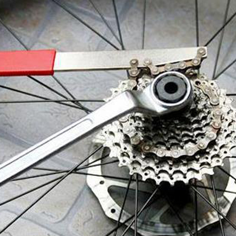 US Mountain Bike Remover Repair Tool Cassette Freewheel Chain Whip Sprocket Lock