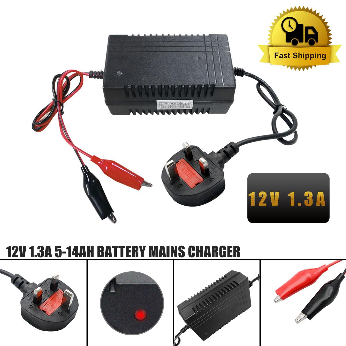 12v 13a Mini Sla Battery Charger For 4 14ah Sealed Lead Acid 2v 6v Leadacid Mains Ebay Batteries