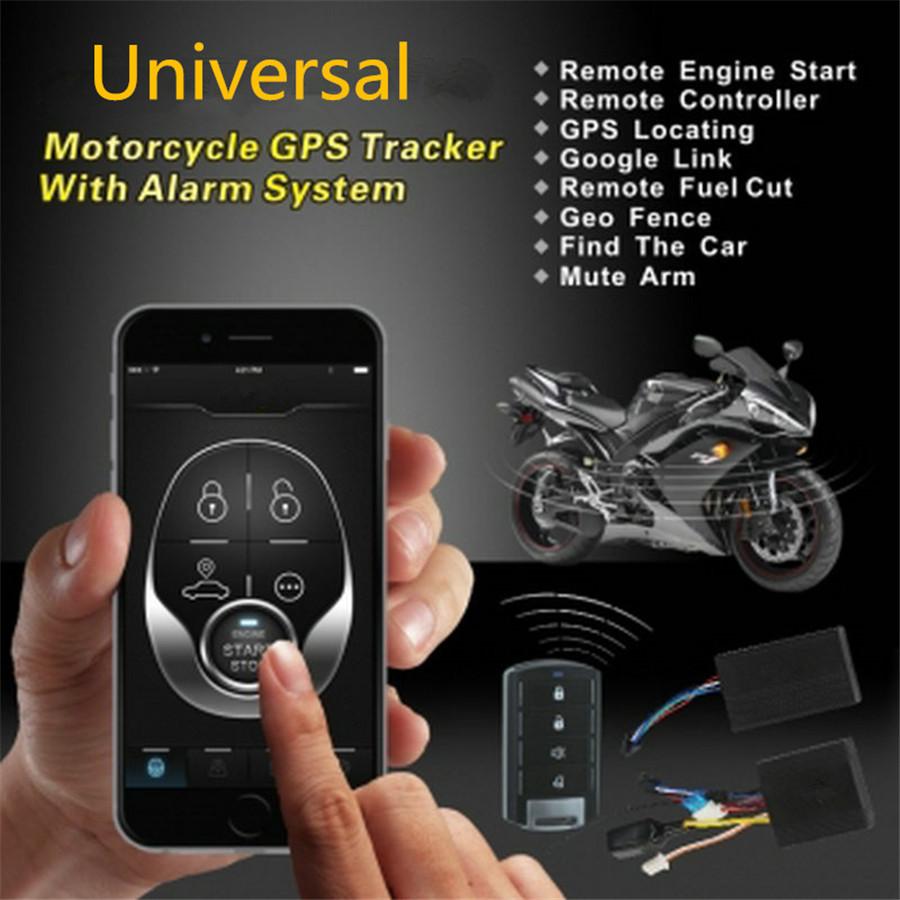 Motorcycle Gps Tracker Engine Start Keyless Entry Alarm System One Way Remote