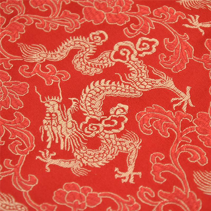 Chinesisch Stil Stoff Drache Muster Halbmeter Handarbeit Nähen Brokat Mehrfarbig