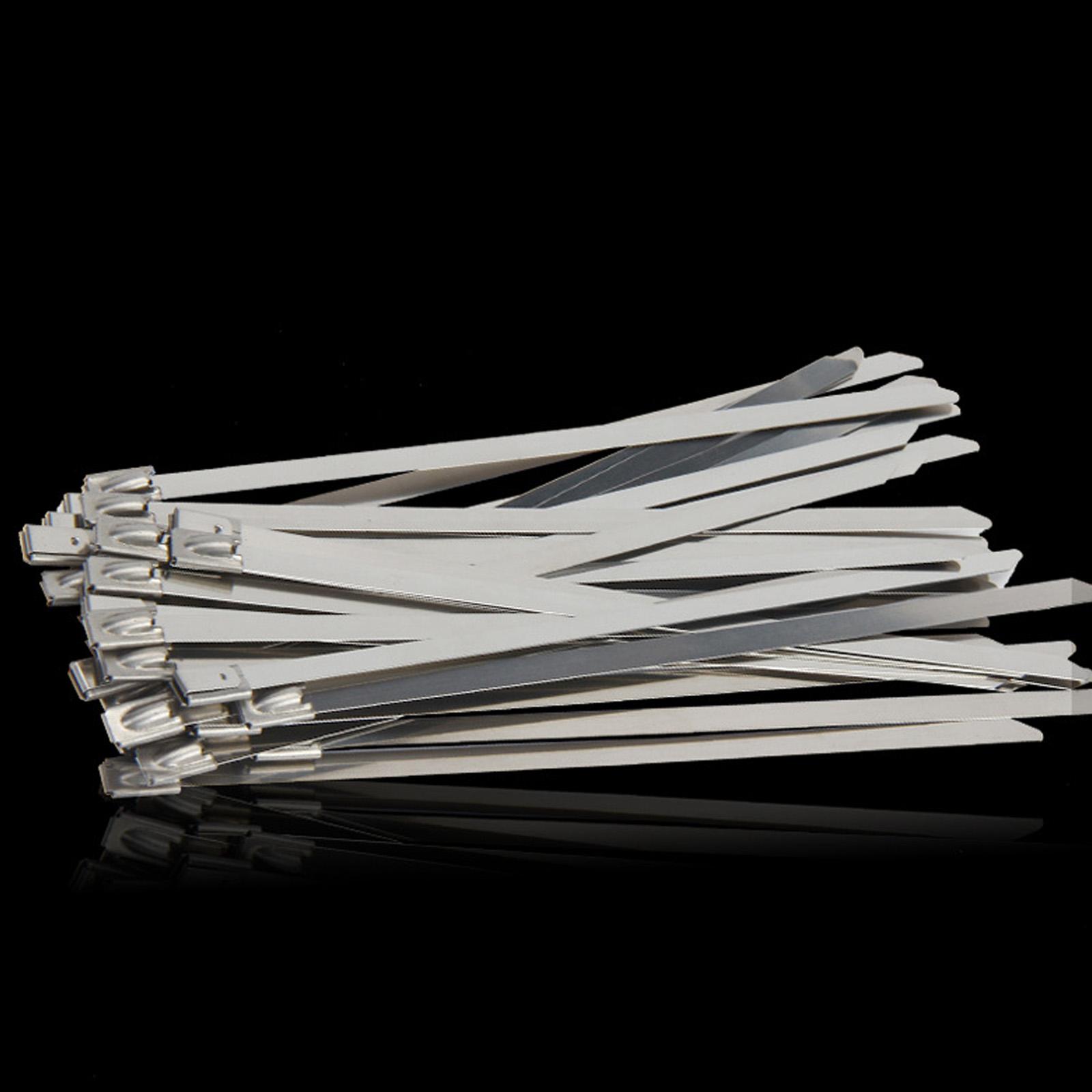 100Pcs Stainless Steel Cable Ties Grade Metal Cable Ties Zip Tie Locking Wire