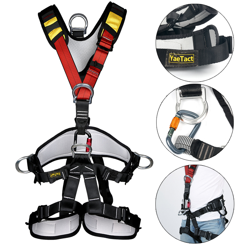 42464a772645b14b29d5944cd4d58a4d53ntkk pro full body harness, climbing rappelling rescue full body safety