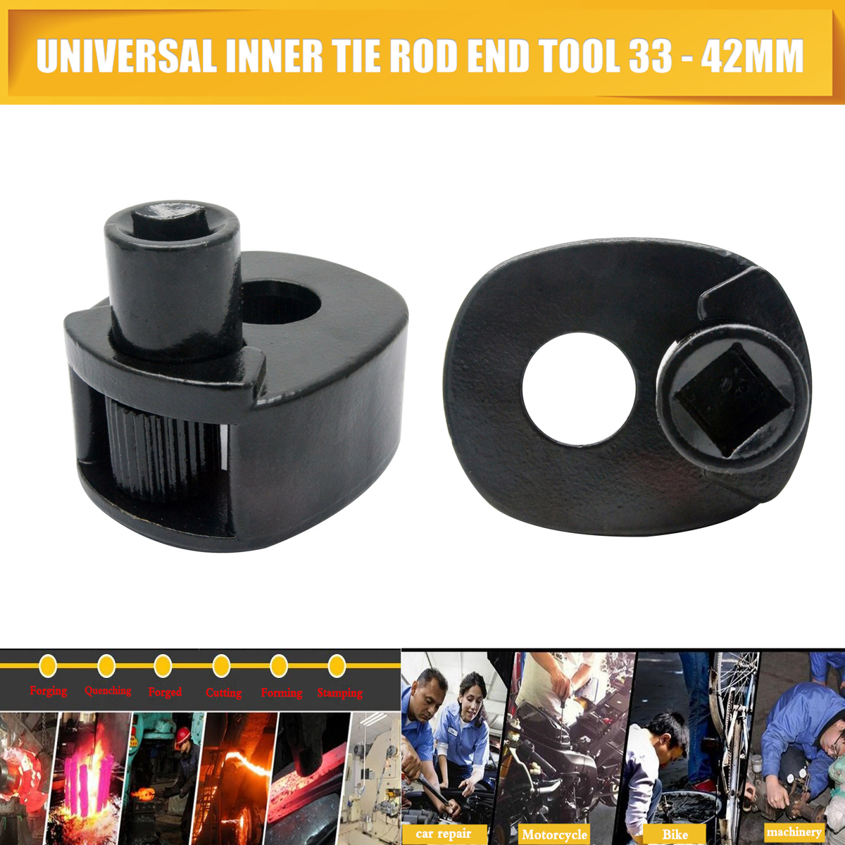 Inner Tie Rod End Tool 33-42mm Removal Steering Rod Rack /& Pinion Fit for Ford
