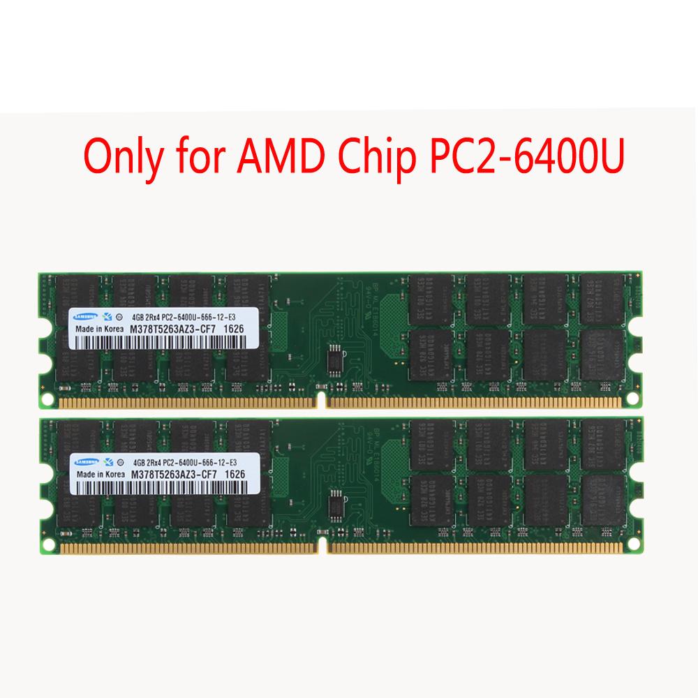 1GB PC2-6400U DDR2 800MHz CL6 1.8V 240pin intel Desktop Memory RAM For Samsung