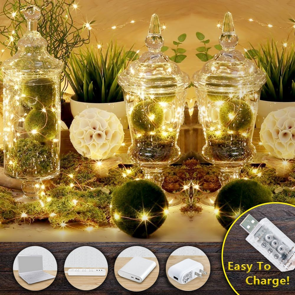 Usb Plug In Mirco Silver Wire Fairy String Lights Christmas Garden Wiring A Gold And 100leds On 10meter Importation Dc5v Connect Directly To Port Or Power Bank Avoid Wasting Batteries