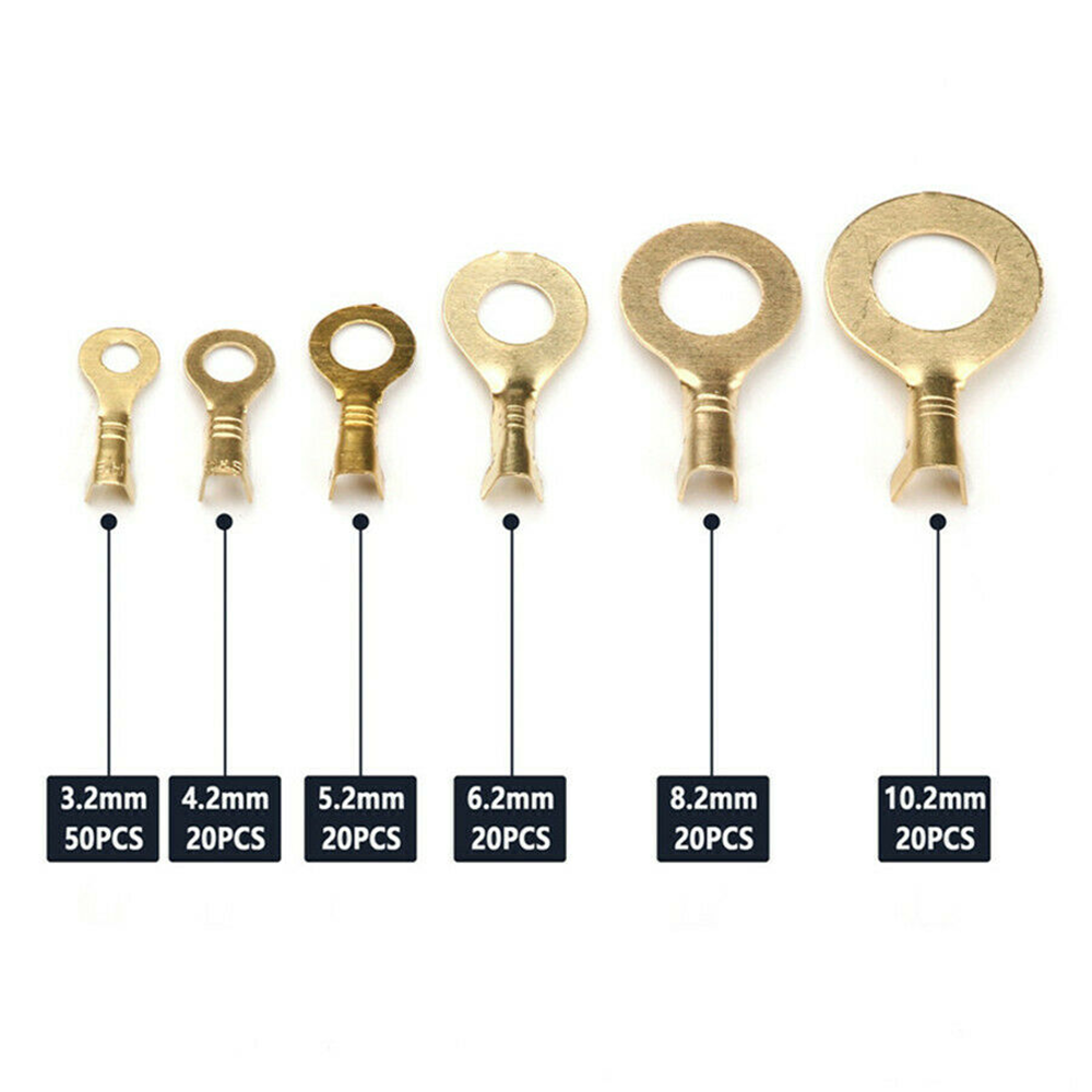 High Quality M6 6.2mm uninsulated brass naked crimp