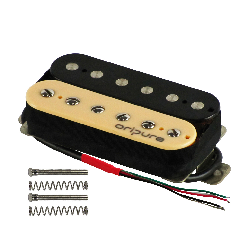 oripure alnico 2 hh electric guitar humbucker pickups neck bridge pickups zebra ebay. Black Bedroom Furniture Sets. Home Design Ideas