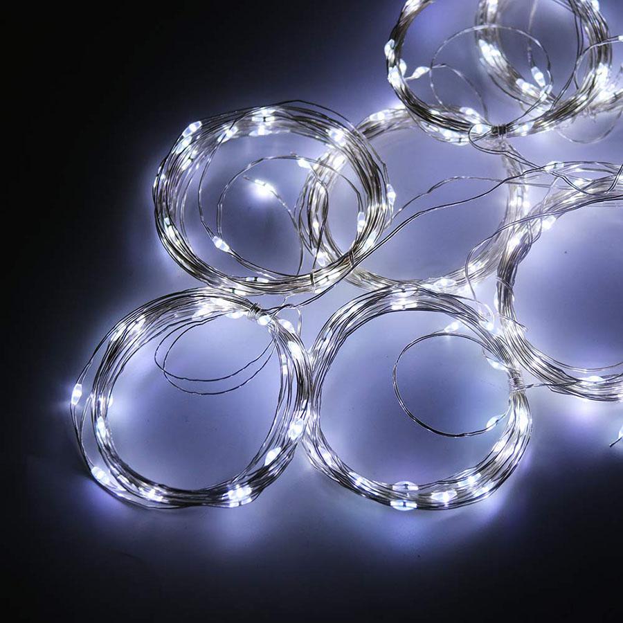 LED Fairy String Curtain Window Lights Christmas Xmas Party Waterproof Decor UK